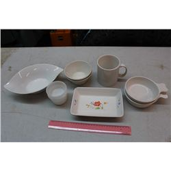 Lot of White Dishware