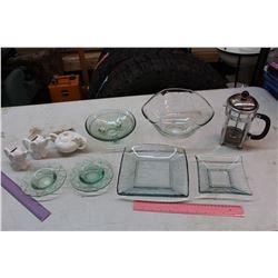 Lot of Glassware & A Coffee Maker