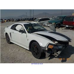 2001 - FORD MUSTANG//SALVAGE TITLE//EXPORT ONLY