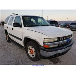 2005 - CHEVROLET TAHOE//SALVAGE TITLE