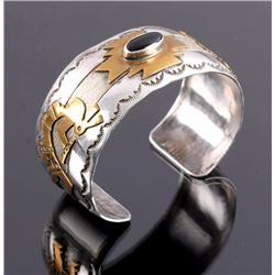 Thomas Singer Sterling Gold Filled Navajo Cuff