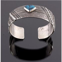 Thomas Singer Navajo Sterling Turquoise Cuff