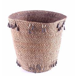 Apache Burden Basket with Jingle Cone 19th Century