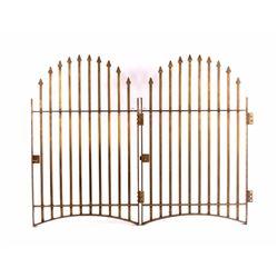 Antique Solid Brass Bank Teller Window Cage Doors