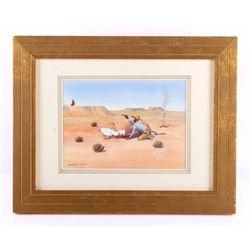 Original Leonard Reedy Framed Watercolor Painting