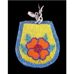 Crow Native American Beaded Pouch