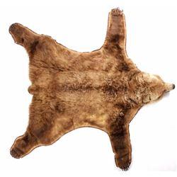 Kodiak Grizzly Brown Bear Trophy Rug RARE