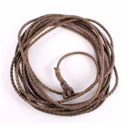 Antique Braided Leather Cowboy Riata