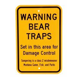 Montana Game Fish & Parks Bear Trap Sign