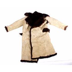Antique Stagecoach Driver Buffalo Hide Coat
