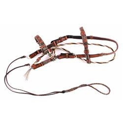 Deer Lodge Prison Hitched Horsehair Headstall
