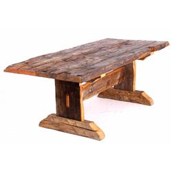 Montana Rustic Reclaimed Timber Harvest Table