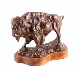 Original Bronze Buffalo Sculpture by Daro