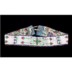 Ojibwe Fully Beaded Headband circa 1900