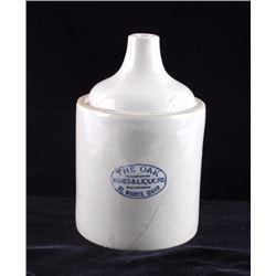 The Oak St. Maries Idaho Whiskey Crock Jug