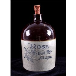Antique Rose Distiller Whiskey Jug Atlanta Georgia