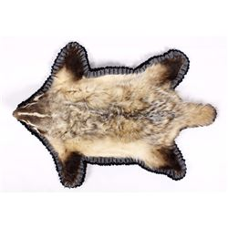 Montana Double-Mounted Trophy Badger Rug