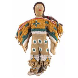 Plains Indian Beaded Doll