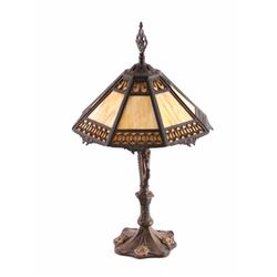 Antique Slag Glass Lamp