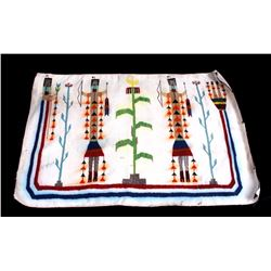 Early Navajo Yei Rug circa 1920s