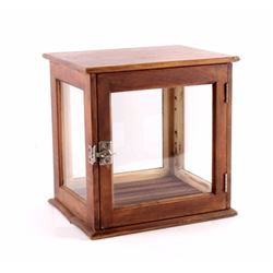 Antique Walnut Glass Mercantile Display Case