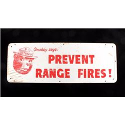 Original Smokey Bear Prevent Range Fires Sign