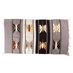 Zapotec Wool Pictorial Butterfly Runner Rug