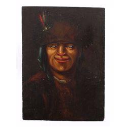 Early Canadian Blackfeet Indian Portrait 19th C.