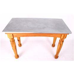 Montana Made Pine Tin-Top Table