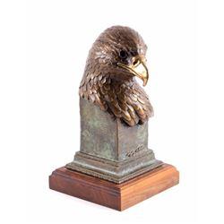 Original Bald Eagle Sculpture by Geoffrey C. Smith