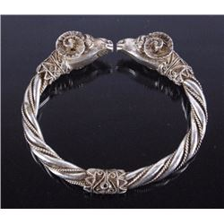Sterling Silver Spring Loaded Butting Ram Bracelet