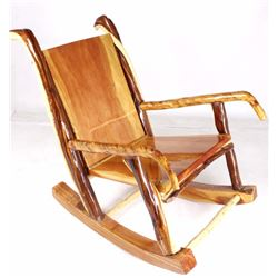 Rustic Montana Juniper Custom Rocking Chair