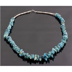 Kingman Turquoise & Heishi Bead Necklace