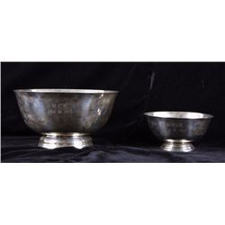 Early Sterling Sliver Serving Bowls (2)