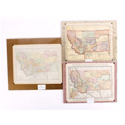 Three Turn of the 19th C. Montana County Maps