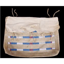 Plains Indian Tanned Hide & Trade Bead Envelope