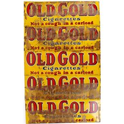 Five NOS Single-Sided Old Gold Cigarettes Ad Signs