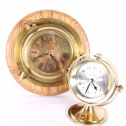 Homestake Mine Award Brass Nautical Theme Clocks