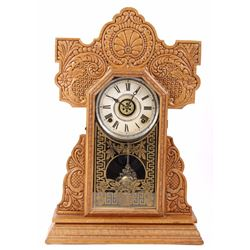 Pressed Oak Mantle Clock by E. Ingraham CO.