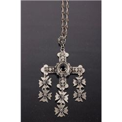 Spanish Inspired Iron Cross Pendant Necklace