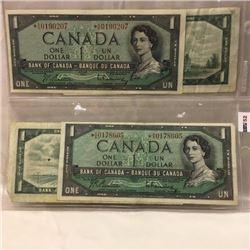 Canada $1 Bills 1954