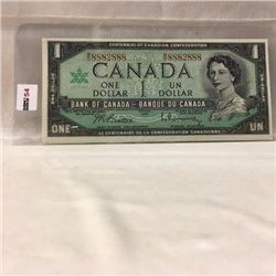 Canada $1 Bill 1967