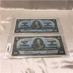 Canada $5 Bills