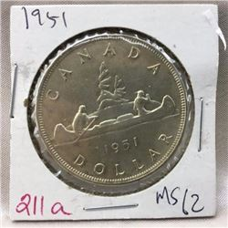 Canada Silver Dollar - CHOICE OF 7