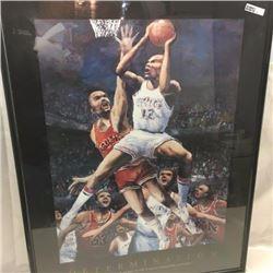 Large Framed Basketball Poster