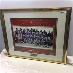 Framed Team Canada Poster