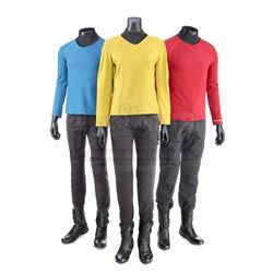 STAR TREK (2009) and STAR TREK INTO DARKNESS (2013) - Set of Three Men's Enterprise Uniforms