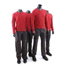 STAR TREK (2009) and STAR TREK INTO DARKNESS (2013) - Set of Four Men's Enterprise Operations Unifor