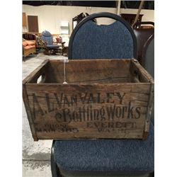 A.l Van Valley Bottling Works Wooden Crate