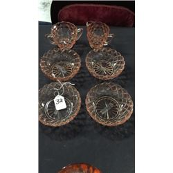 6pc Depression Glass